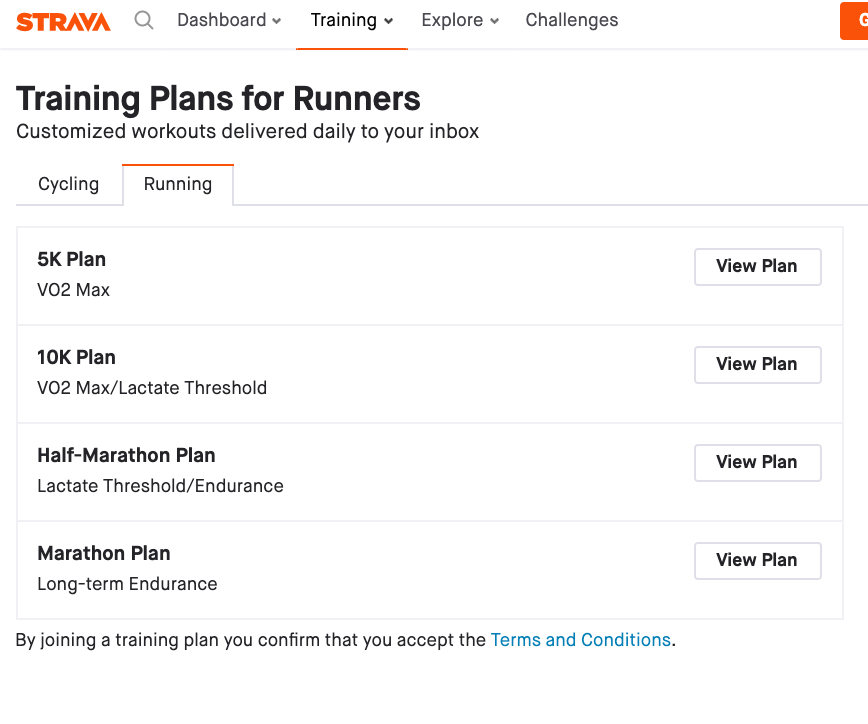 Strava Training Plans for Runners